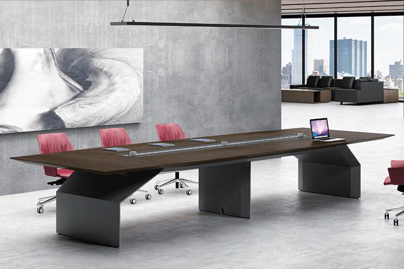 办公家具中常见的几种制成会议桌材质