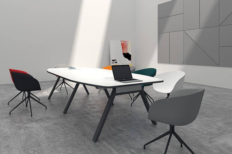 简约办公家具打造现代会议室