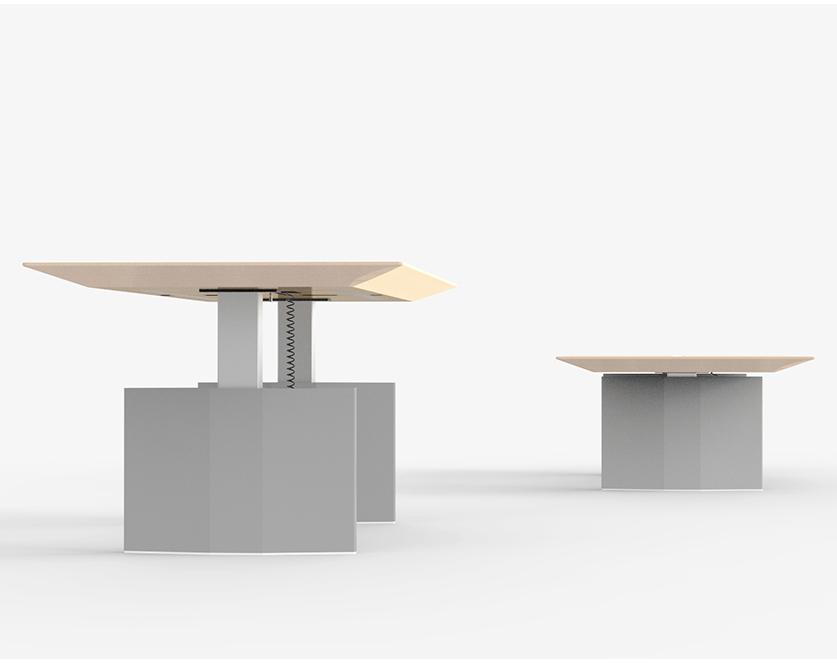 格林可升降会议桌-欧时家具
