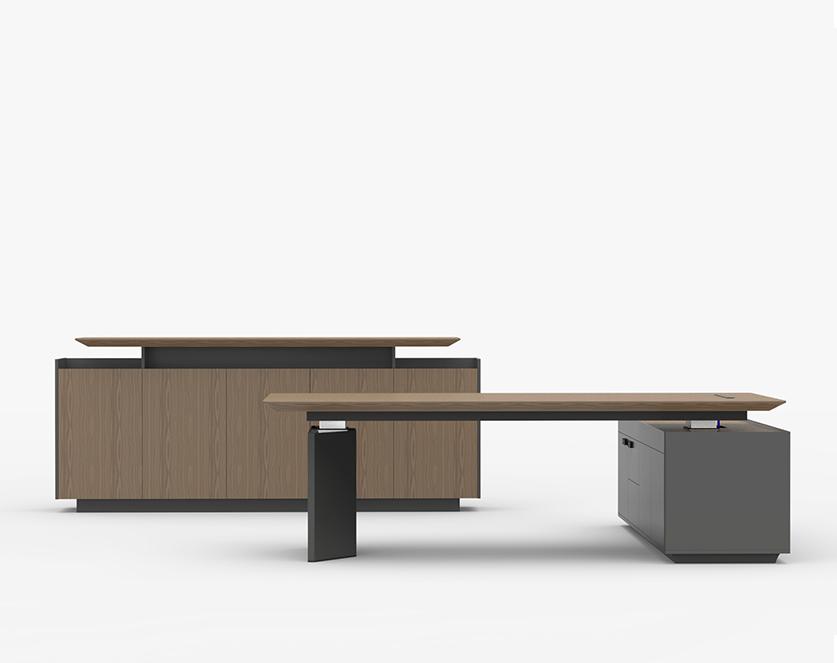 格林系列老板桌-欧时家具