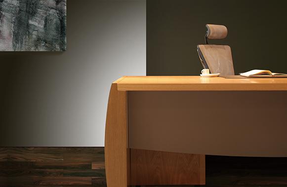 巴特系列老板桌-欧时家具